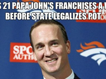 Peyton Manning colorado pizza legalization