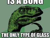 ripped glass philosoraptor meme
