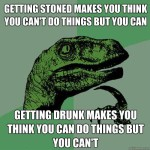 Drunk Stoned inhibitions