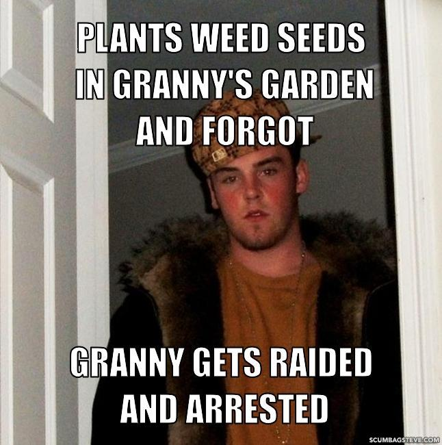 growing weed granny garden raided arrested