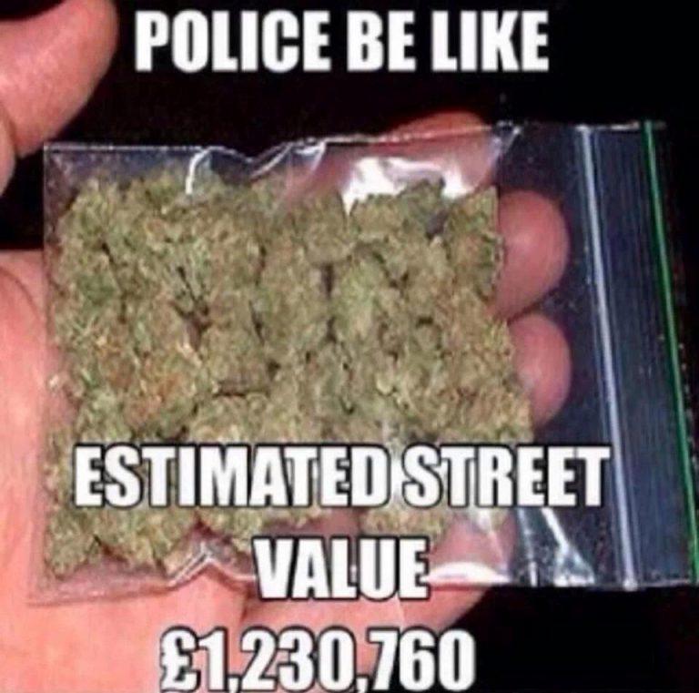 police cops marijuana value seizures