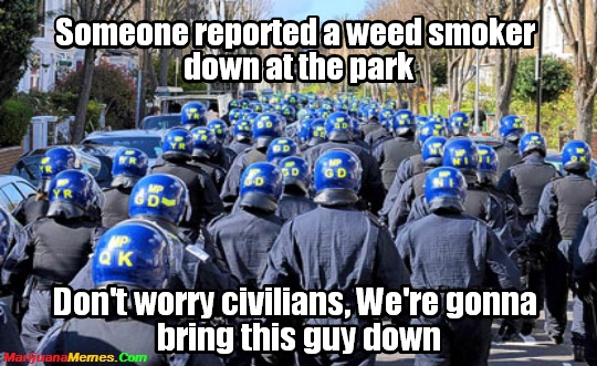Weed Smoker down the park? The Police Are On It!