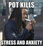 pot kills stress anxiety