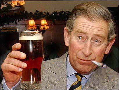 Prince Charles Smoking Weed And Drinking Beer