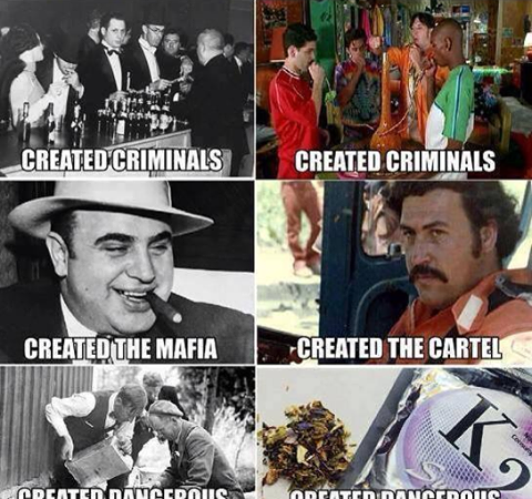 Prohibition now and then