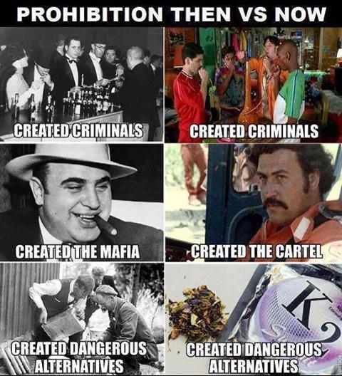 prohibition comparrison drugs alcohol