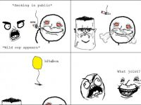 rage comic smoking in public