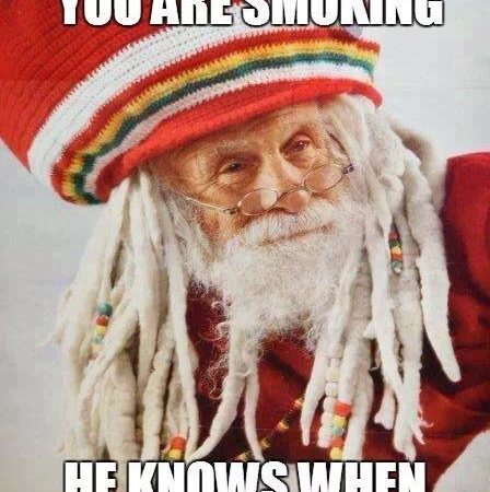 Rasta Santa – He Knows When You Are Smoking