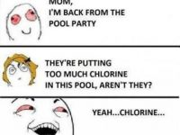 red eye exscuse swimming pool chlorine