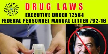 ronald regan drug tetsing at work