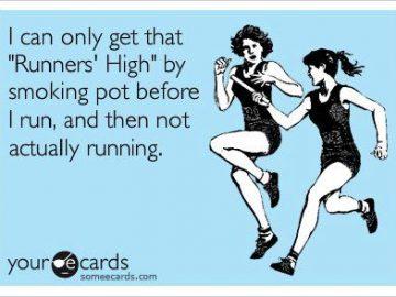 Runners' High marijuana meme