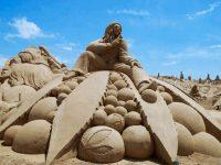 bob marley sand sculpture