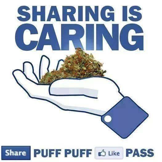 sharing is caring puff puff pass