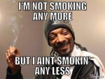 snoop dogg not smoking anymore anyless