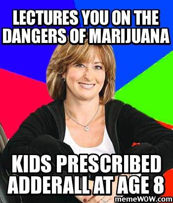 soccer mom marijuana adderall meme