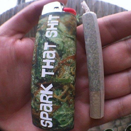 spark that shit weed smoking lighter