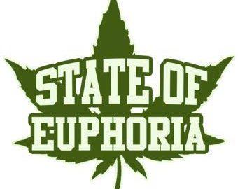 state of euphoria cannabis leaf
