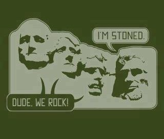 Mount Rusmore Stoned meme