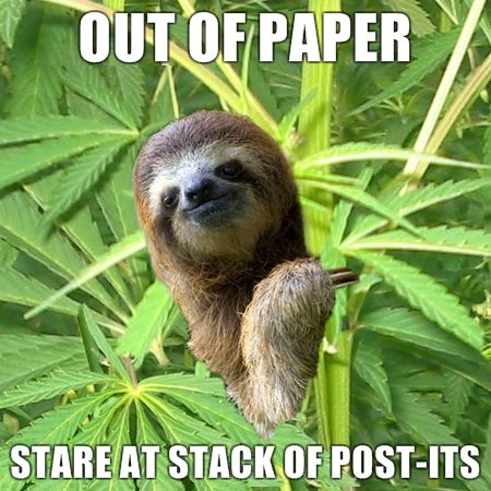 When you're out of papers