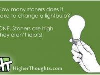 changing a light bulb stoners