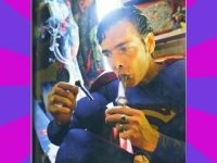 Superman Hitting The Bong
