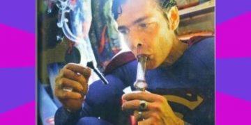 Superman Hitting The Bong