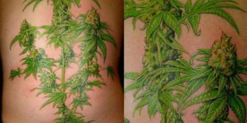 best marijuana plant tattoo ever