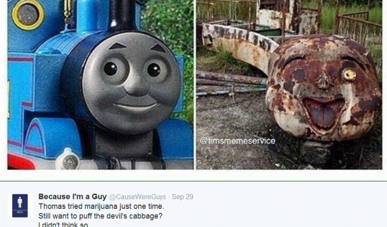Before and After Smoking The Devils Lettuce