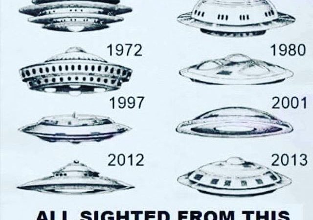 UFOs Seen Through Telescope