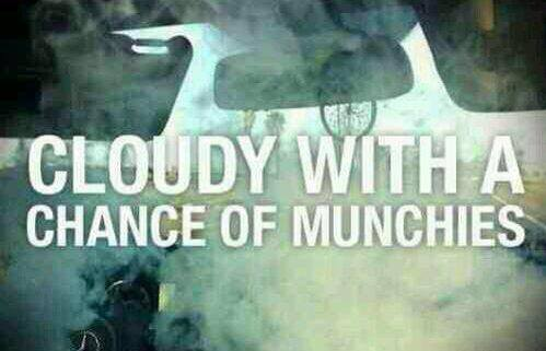 Cloudy with a chance of munchies