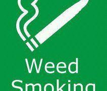 weed smoking area sign