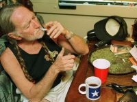 Willie Nelson smoking weed like a boss