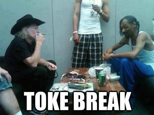 Willie Nelson And Snoop Dogg On A Smoke Break
