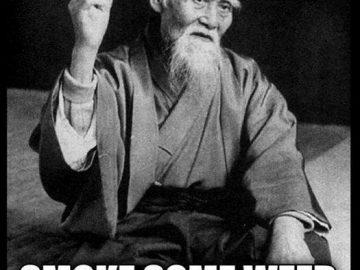 Wise man Once Said smoke weed sensei ueshiba