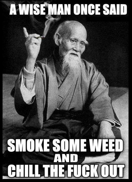Wise man Once Said smoke weed sensei ueshiba
