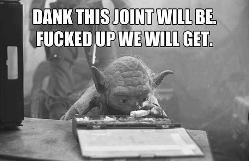 yoda fucked up weed meme